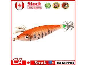 Luminous Squid Bait w/ Noctilucent Rod Trough Fishing Tackle Orange 8cm CA