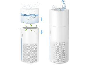 Air Purifier for Home Allergies Pets Hair Smokers in Bedroom with Humidifier
