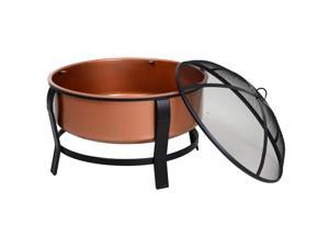 Clearance Sale   30 Round Firepit Outdoor Po Heater with Wood Poker,