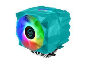 Iceberg Thermal IceSLEET X9 Dual AMD sTRX4 TR4 SP3 Ryzen Threadripper High Performance CPU Cooler 9 Heat Pipe Twin Tower Nickel Plating with Addressable RGB ARGB 120mm 140mm PWM Fan Set Max TDP 280W