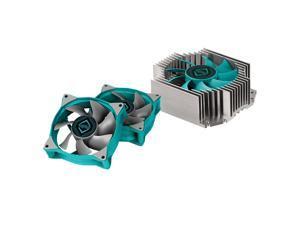 Iceberg Thermal IceFLOE T65 ITX Low Profile 3 Heat Pipe Extrusion Aluminum Heatsink HTPC CPU Cooler with 80mm Fan (Builder's Bundle)