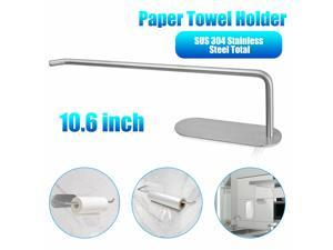 Paper Towel Holder Cabinet Wall Mount Stainless Steel Roll Rack Kitchen Bathroom