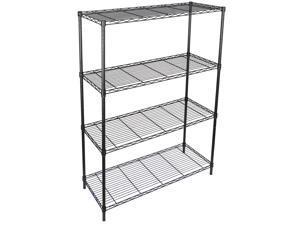 4-Tier Wire Shelving Rack Shelf Household Kitchen Storage Metal Shelf Organizer