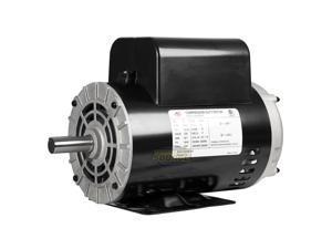 """5  Compressor Duty Electric Motor 230V 1 Phase 56HZ Frame 7/8"""" Shaft 3450 RPM"""