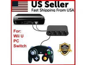 GameCube Controller Adapter 4 port For  Switch Wii U  PC USB NEW TURBO