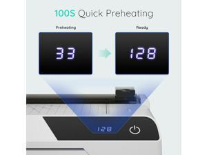 A4 Touchscreen Laminator + Laminng Pouches/Corner Rounder for Home/Office