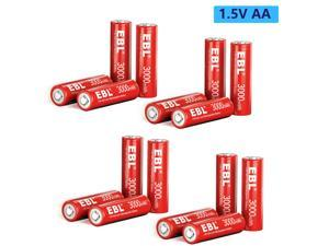 Lot   2000mah 1.5V Rechargeable AA Li-ion Battery 3000mwh Lithium Batteries