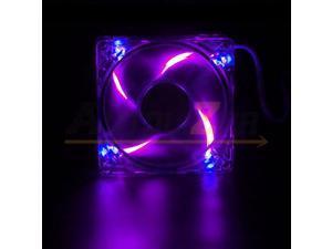 Lots 1/2/4 Quad 4 LED Lights 80mm/120mm PC Computer Desktop Case Cooling Fan RGB