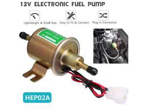 Universal 12V 4-7 PSI Gas  Inline Low Pressure Electric Fuel Pump HEP02A