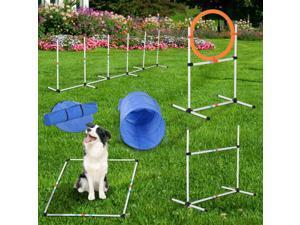 Outdoor Dog Pet Agility Training Equipment Backyard Starter Course Set