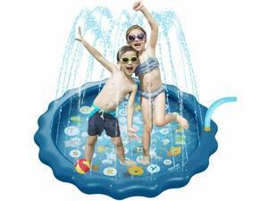 Water Spray Play Mat Alphabet Animal Sprinkler Cushion Beach Pad for Kids Baby's