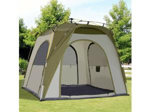 Automc Camping Tent Travel Beach Tent Backpacking Dome Shelter 2-5 Person