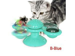 Windmill Cat Toys Puzzle Play Game Turntable Teasing Interactive Massage Tickle
