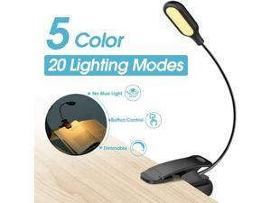 14 LED Reading Book Light Dimmable 20 Lighting Modes Clip on Book Stand Lamp