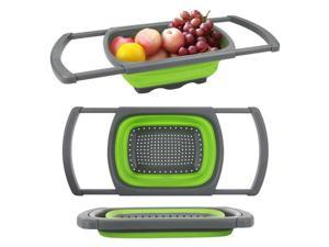 Colander Collapsible Over The Sink Colander with Handles Folding Strainer