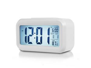 Digital Alarm Clock Large LCD Display Thermometer Smart Night Light Back Light