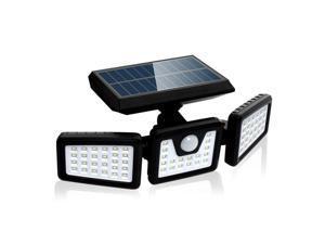 Wireless Solar Security Lights 70 LED 3 Rotatable Head Waterproof Motion Sensor