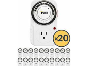 20-Pack   24-Hour Plug-in Mechanical Electric Outlet Grounded Timer