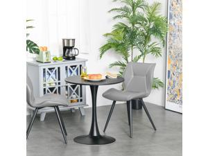 Modern Round Dining Table Leisure Coffee Bistro Table Metal Base Dining Room