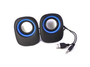 USB Stereo Speaker For Laptop Desktop PC Computer MP3 Music Cell Phone Player BK