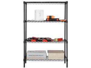 4-Tier Shelving Unit Storage Organizer Shelf Rack With Adjustable Feet Knob NEW