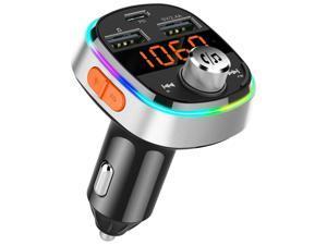 Bluetooth 5.0 FM Transmitter Handsfree Car Kit Speaker USB-C 3.1 Charger 2 x USB