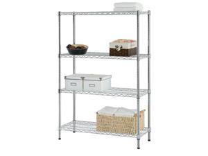 Shelving Storage 4-Tier Organizer Shelf Rack With Adjustable Feet Knob Kitchen
