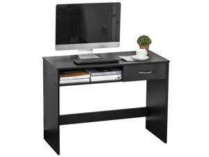 Writing Study Desk with Drawer  Storage Shelf for Home Office, Study