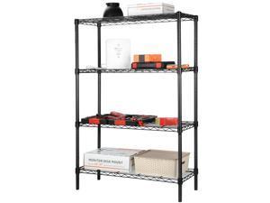 4-Tier Shelving Unit Storage Organizer Shelf Rack With Adjustable Feet Knob