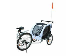 CYBER MONDAY SALE 2 IN 1 Pet Trailer Dog Cat Bike Bicycle Trailer Stroller