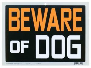 """Sign """"Beware of Dog"""" Business Safety Park Sign Pvc 9x12"""" 1Pc"""