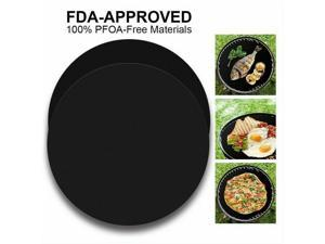 10 PCS Non-Stick Round BBQ Grill Mat Reusable and Dishwasher Safe Cooking Mats