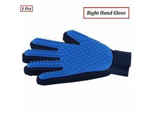 Pet Dog Finger Touch Grooming Gloves Brush Hair Remover Mitt Deshedding Massage