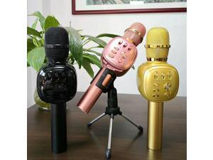 Wireless Bluetooth Microphone With LED Light for Kraoke Handheld Audio