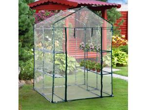 4.7' x 4.7' x 6.4' Walk-in Greenhouse Flower Green House Portable Durable