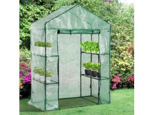 Walk-in Plant Greenhouse Garden Herb Flower Plant 2 Tier 4 Shelves