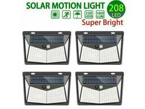 208 LED Solar Powered PIR Motion Sensor Light Garden Outdoor Security Lights