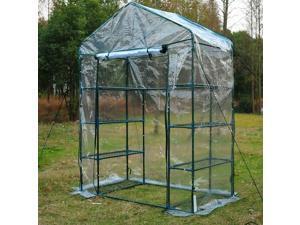 4.7 x 2.4 x 6.4ft 4-Tier Walk-in Greenhouse Garden Flower Plant Portable Po
