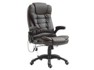 Heated Vibrng Massage Office Chair Swivel Executive High Back Chair Leather