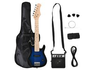 """30"""" Blue/Black Electric Guitar with Amp for Kids/Beginners, Storage Bag"""