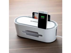 Power Strip Organizer Cable Management Box with Phone Holder for Phone Charger