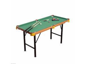 4.5' Folding Mini Billiards Pool Table Set Indoor Kid Activity Home Game
