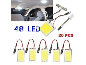 20-Pack 48 SMD DC12V LED Panel Dome Lamp Auto Car Interior Reading Plate Light