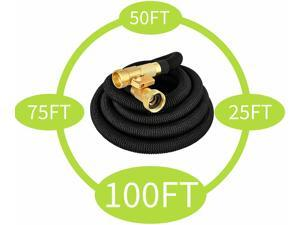 50/75/100FT Expandable Garden Water Hose with High Pressure Spray Nozzle