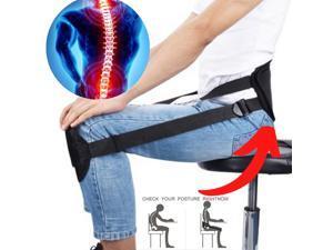 Sitting Posture Waist Back Support Belt Corrector Back Straight Knee Brace Strap