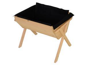 Cross Raised Garden Flower Bed Vertical Plant Box Wooden w/ Inner Bag
