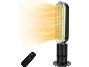 32-inch Space Heater Bladeless Tower Fan Heater  Fan Combo