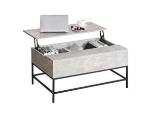 Lift Top Coffee Table w/ Hidden Storage Compartment Flong