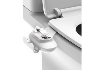Toilet Bidet Non-Electric Hot  Cold Water Ultra thin Dual Nozzle -