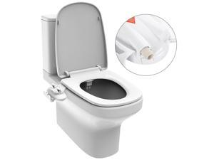 Non-Electric Ultra thin With Adjustable Water Pressure Dual Nozzle Toilet Bidet